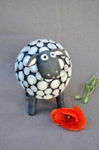 mouton raku coquelicot