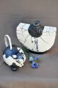 chat et vase