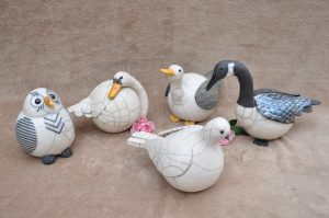 oiseaux en raku
