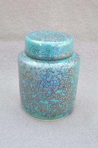 boite cylindre émail à nucléations cuivre