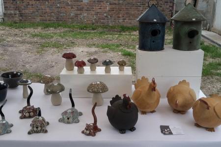 pièces décoratives en grès