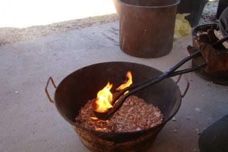enfumage poteries sigillées