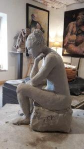 sculpture d'un modèle vivant