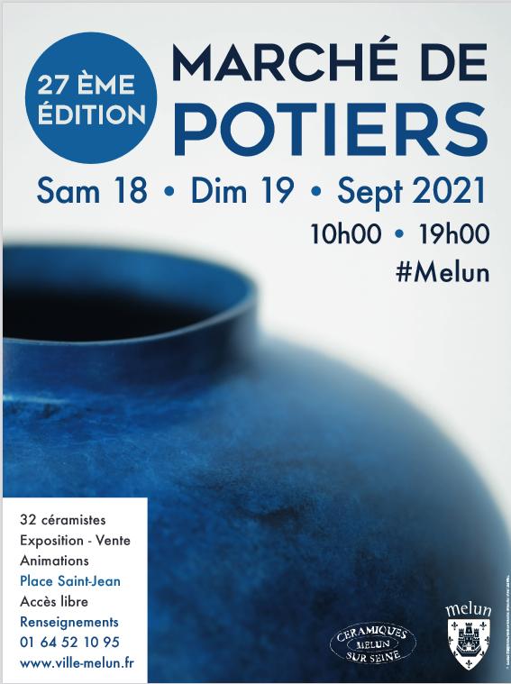 affiche du marché de potiers de melun 2021
